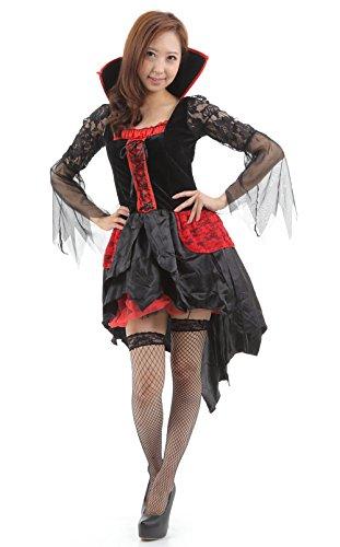 N-hilfe ハロウィン衣装 コスチューム 女性 ヴァンパイア 魔女 ドレス