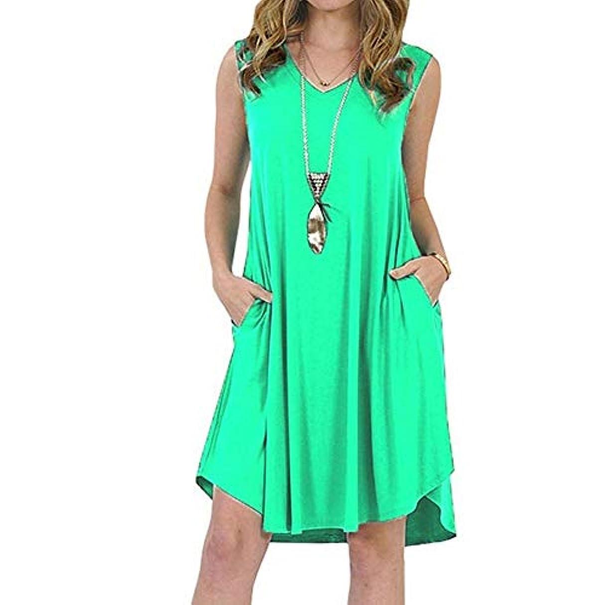 クール早める脱獄MIFAN の女性のドレスカジュアルな不規則なドレスルースサマービーチTシャツドレス