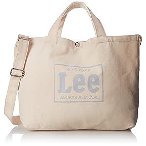 [リー]ショルダーバッグ コットンキャンバス(帆布) 2WAYトートバッグ L ホワイトコットン