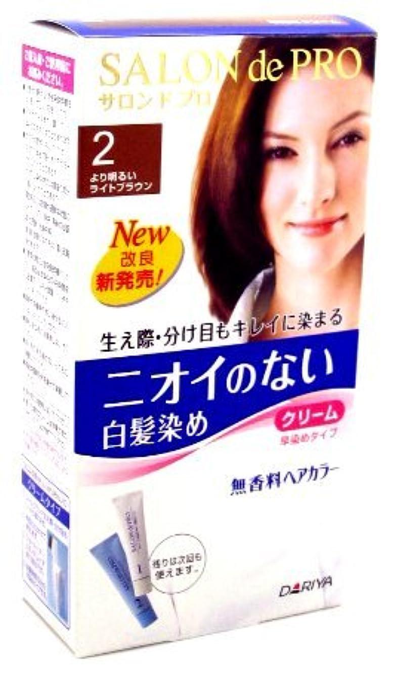 追加物思いにふけるドレスサロンドプロ 無香料ヘアカラ- 早染めクリ-ム 2 より明るいライトブラウン