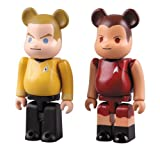 BE@RBRICK JAMES T. KIRK & UHURA 2PACK SET(ABS&PVC塗装済みアクションフィギュア)