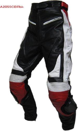 VERDY●HONDA CBR調 カウハイド(牛革)ブーツイン・レザー・パンツ 35サイズ*A2055CBRbk