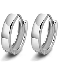 Bullidea Fashion Round Shape Alloy Pendant Earrings Men/Woman Accessories Decorative Stud Silver Earrings Jewelry 1Pair
