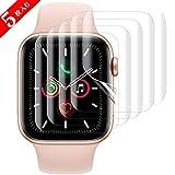 SHINEZONE Apple Watch Series 4/ Series 5 44mm フィルム 【2019最新版 5枚入り】アップルウォッチ5 全面保護 柔らかいTPU素材 巻く・剥がしにくい 透明度・ 滑り心地抜群 ケースに干渉せず(Apple watch series 4 /5 44mm)