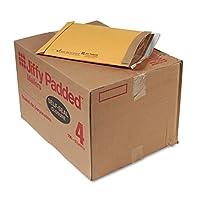 Jiffyパッド入りself-seal Mailer、サイドシーム、# 4、ゴールデンブラウン、100/カートン