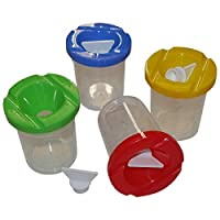 Art Straws AL320 Non Spill Paint Pots with Stoppers (4-Piece)