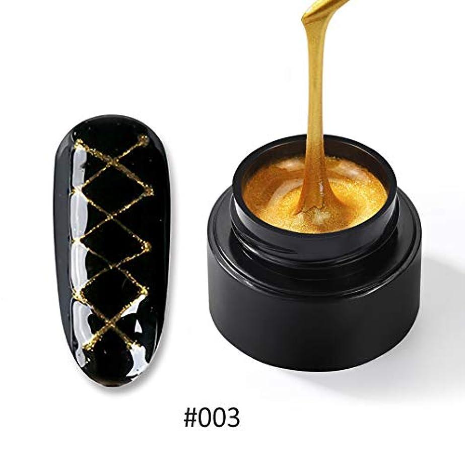 煙突発言する消費者Twinkle Store カラージェル ライナージェル  5ml 1ボトル  ネイルジェルカラー UV/LED 适用  ネイルアートパーツ(金色)