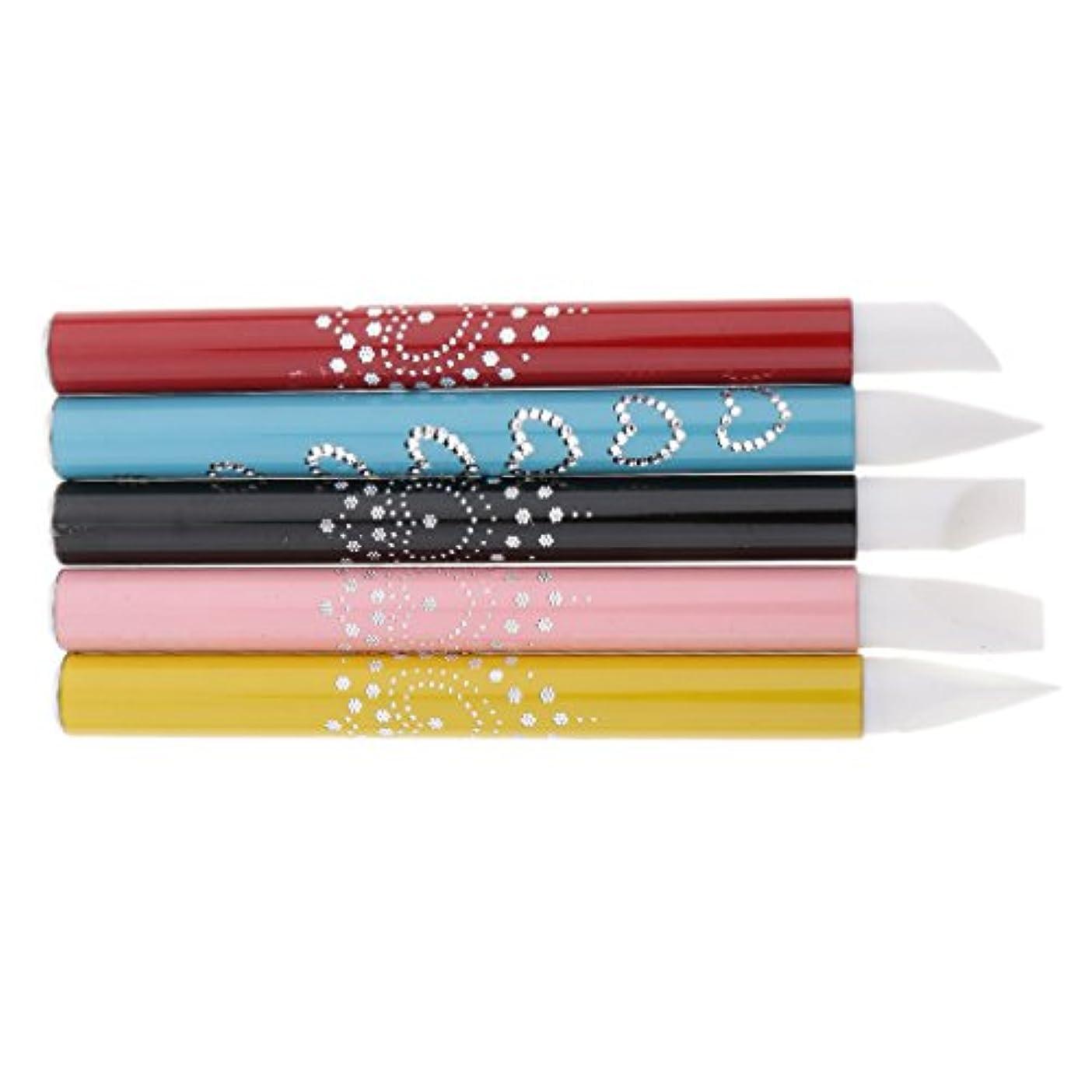 アピール野心気取らない5個 ネイルアート ネイルペン ネイルブラシ シリコンチップ ブラシチップ 彫刻ペン アルミハンドル 繊細なデザイン プレゼント