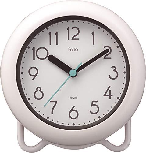 Felio(フェリオ) バスクロック 非電波 アナログ バブルコート 防塵 防滴仕様 IP52 置き掛け兼用 ホワイト FEW130WH