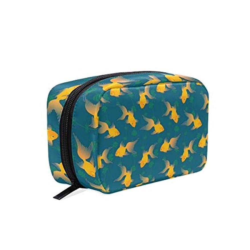 酸度組立つま先金魚 柄 化粧ポーチ メイクポーチ 機能的 大容量 化粧品収納 小物入れ 普段使い 出張 旅行 メイク ブラシ バッグ 化粧バッグ