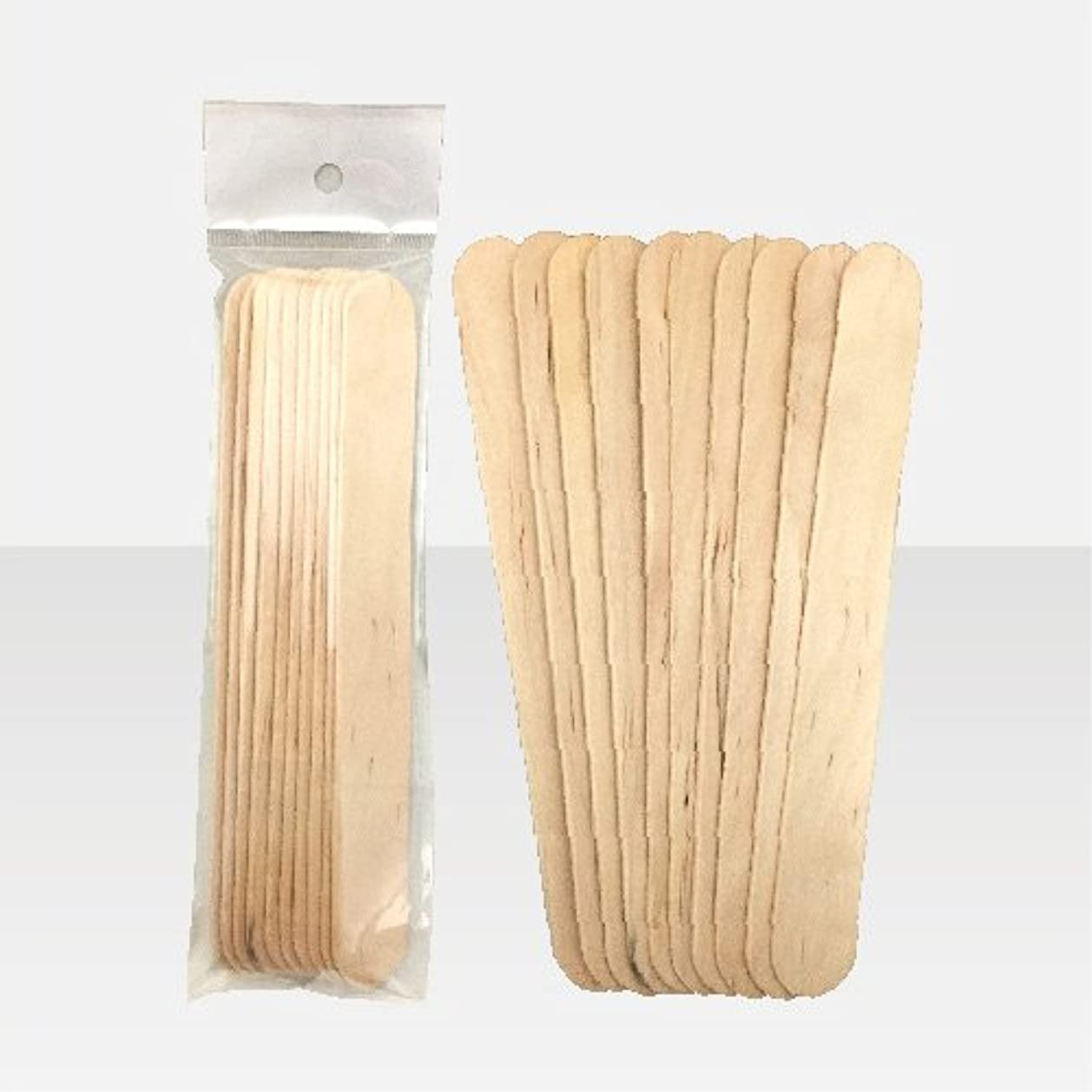 歩き回る補足試みブラジリアンワックス 脱毛ワックス用  ワックススパチュラ 木ベラ /10本セット Mサイズ