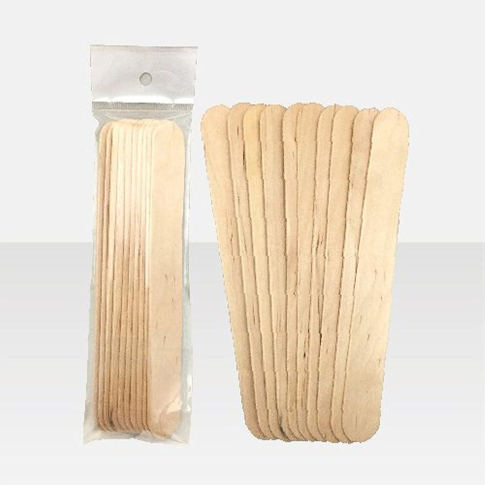 増幅書店汚染するブラジリアンワックス 脱毛ワックス用  ワックススパチュラ 木ベラ /10本セット Mサイズ