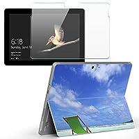 Surface go 専用スキンシール ガラスフィルム セット サーフェス go カバー ケース フィルム ステッカー アクセサリー 保護 景色 夏 海 自然 014937