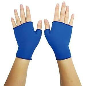 [保温×保湿] 手肌のうるおいサポート☆ モイストハンドサポーター ブルー Lサイズ 【山本化学工業】