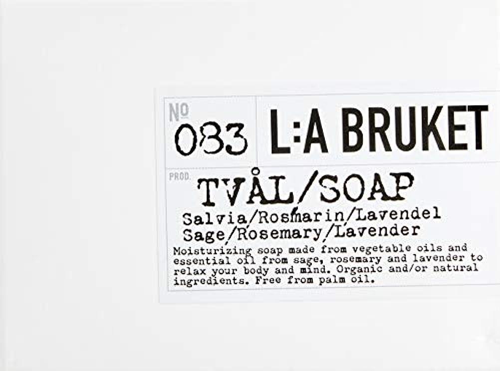 書店エクステントメニューL:a Bruket (ラ ブルケット) バーソープ (セージ?ローズマリー?ラベンダー) 120g