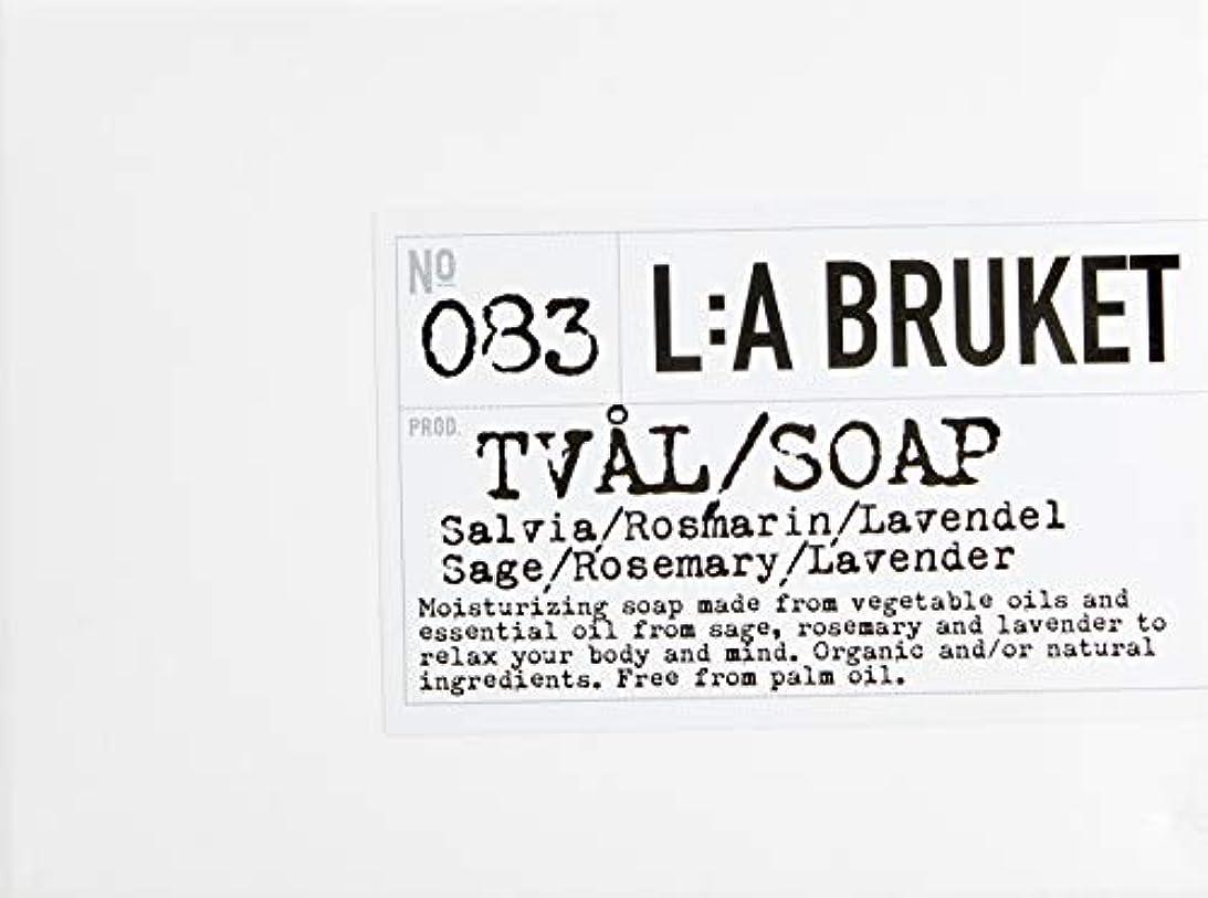 目覚める代数裕福なL:a Bruket (ラ ブルケット) バーソープ (セージ?ローズマリー?ラベンダー) 120g