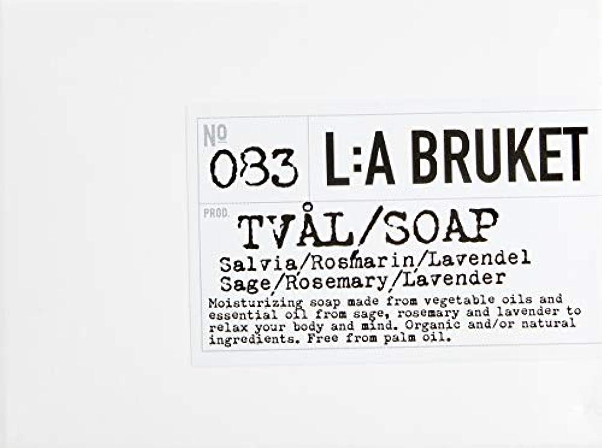 メルボルンボーカル葬儀L:a Bruket (ラ ブルケット) バーソープ (セージ?ローズマリー?ラベンダー) 120g