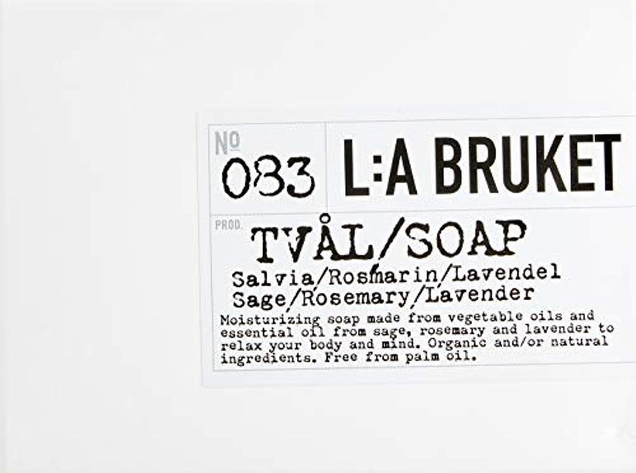 壮大な模索肌寒いL:a Bruket (ラ ブルケット) バーソープ (セージ?ローズマリー?ラベンダー) 120g