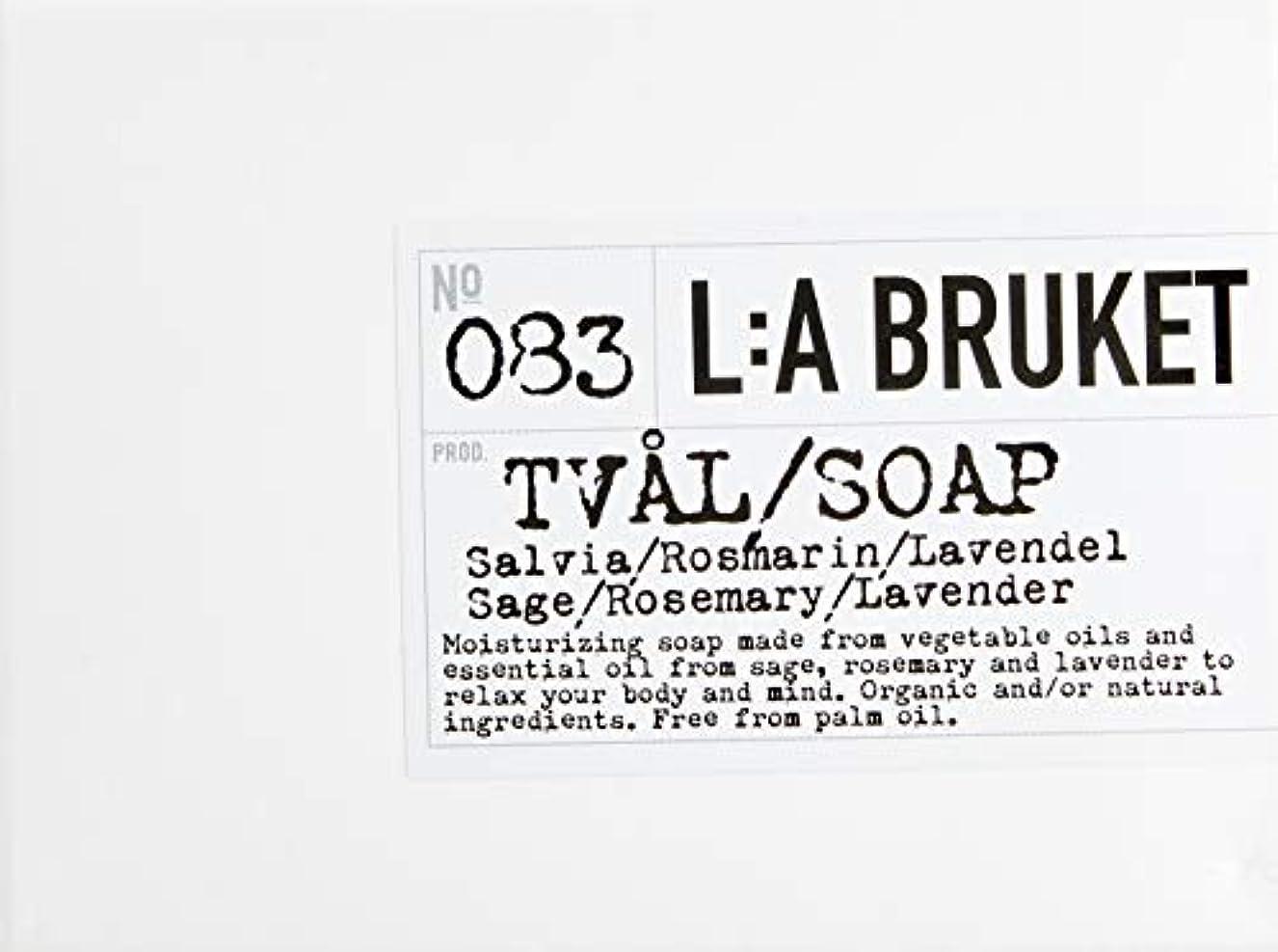 オペレーター勝つ不良品L:a Bruket (ラ ブルケット) バーソープ (セージ?ローズマリー?ラベンダー) 120g