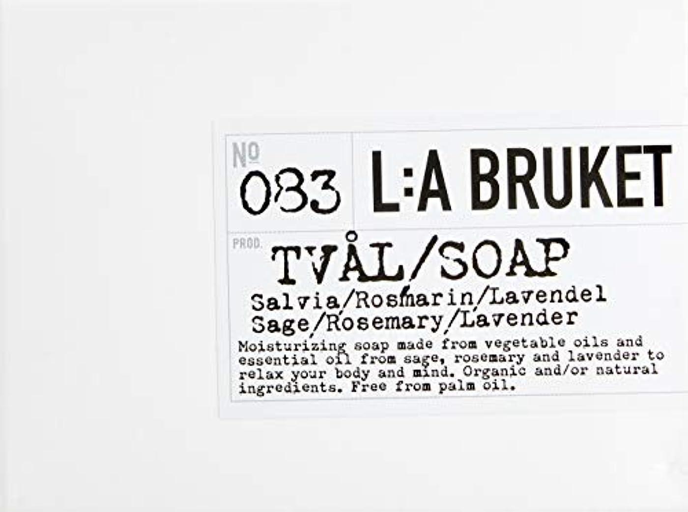 夏鎮静剤内部L:a Bruket (ラ ブルケット) バーソープ (セージ?ローズマリー?ラベンダー) 120g