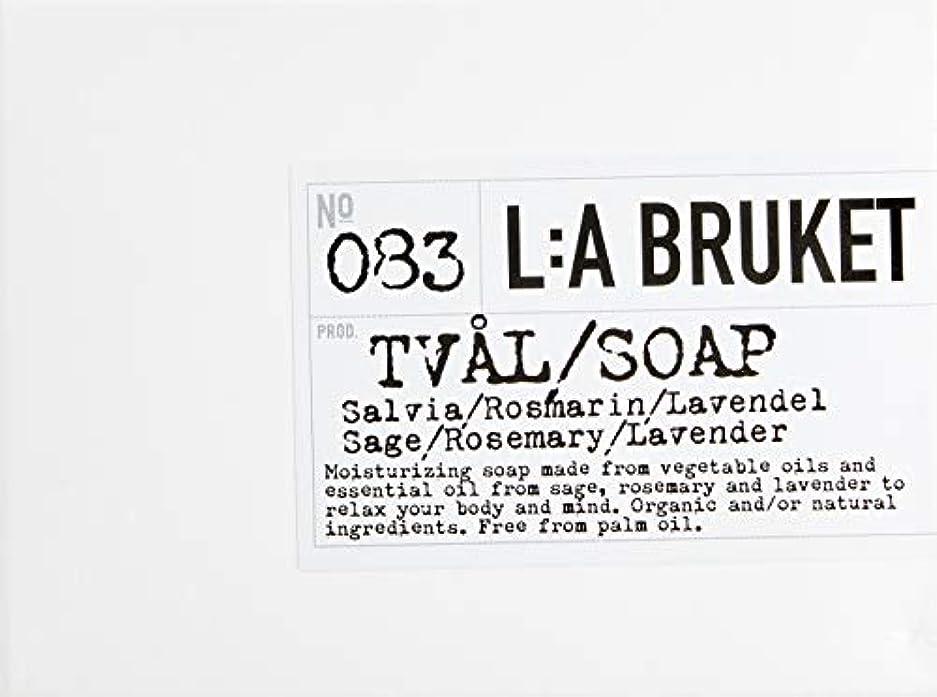 微生物コインリフトL:a Bruket (ラ ブルケット) バーソープ (セージ・ローズマリー・ラベンダー) 120g