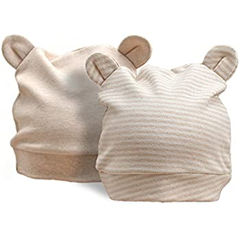 96f631e640dbf オーガニックコットン キュートな 帽子 ベビー用 新生児用(0~3カ月)耳