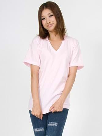 (アメリカンアパレル) American Apparel Vネック Tシャツ V NECK アメアパ メンズ レディース XL Light Pink