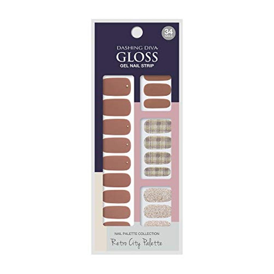 便益識別するブランチダッシングディバ グロスジェル ネイルストリップ DASHING DIVA Gloss Gel Nail Strip GVP89 -DURY+ オリジナルジェル ネイルシール Brick Crayon