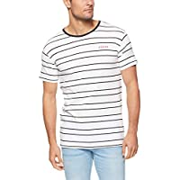 Silent Theory Men's Spend IT Stripe TEE, White