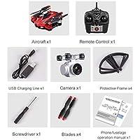 S13 2.0MPカメラ4チャンネル6軸ロングリモートコントロールクアドコプターカメラドローン(color:赤)