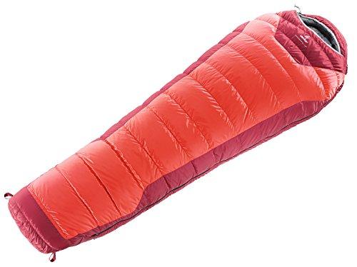 ドイター 寝袋 ネオスフィア-10 ダウン675Fシュラフ ファイヤー×クランベリー
