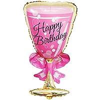 風船 ワイングラス バルーン 誕生日 飾り付け イベント 装飾 文字 風船 バースデーパーティーアニバーサリー (A)