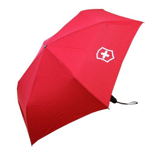 ビクトリノックス Victorinox 折りたたみ傘 自動開閉 オートクロージャー ブラック 30272601「並行輸入品」 (レッド)
