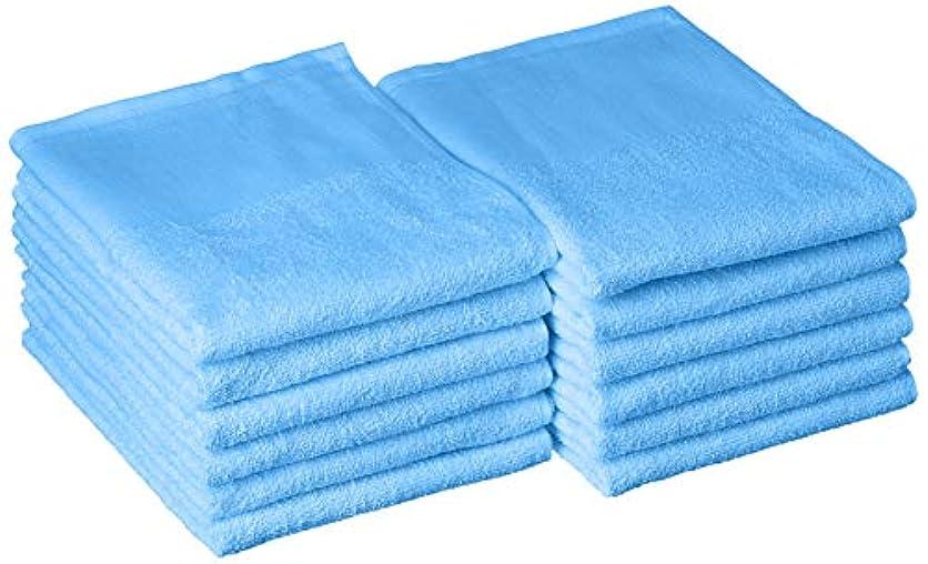 チーズ苦痛義務的TO 200匁カラータオル ショートパイル 平地付 (12枚入) ブルー