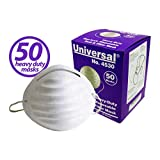 Universal 4530 Heavy-Duty Non-Toxic Disposable Dust & Filter Safety Masks - For Non-Toxic Dust, Pollen, Dander, Sawdust, Garage Dust, Garden and General Household Dust & Irritants (50ct Box)