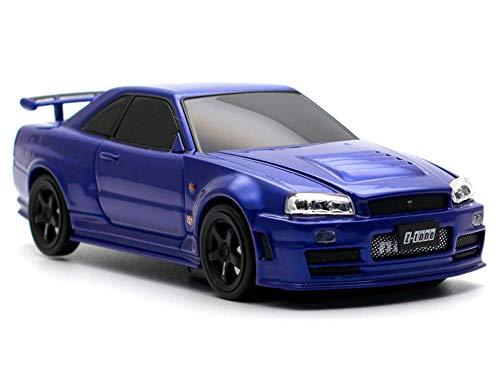 車型モバイルバッテリー 日産GT-R R34 NISMO Z Tune 4500mAh ブルー
