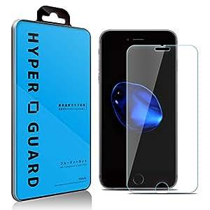 [HYPER GUARD]【30days プレミアム保障】 ブルーライトカット 92% 日本製 旭硝子使用 iPhone6 Plus / iPhone6s Plus 対応 強化ガラスフィルム 極薄 0.33mm 3dタッチ 硬度9H ラウンドエッジ加工 保護シート ガラスフィルム 国産 アイフォン6 プラス アイフォン6S v060 15AC11-4-CLRv