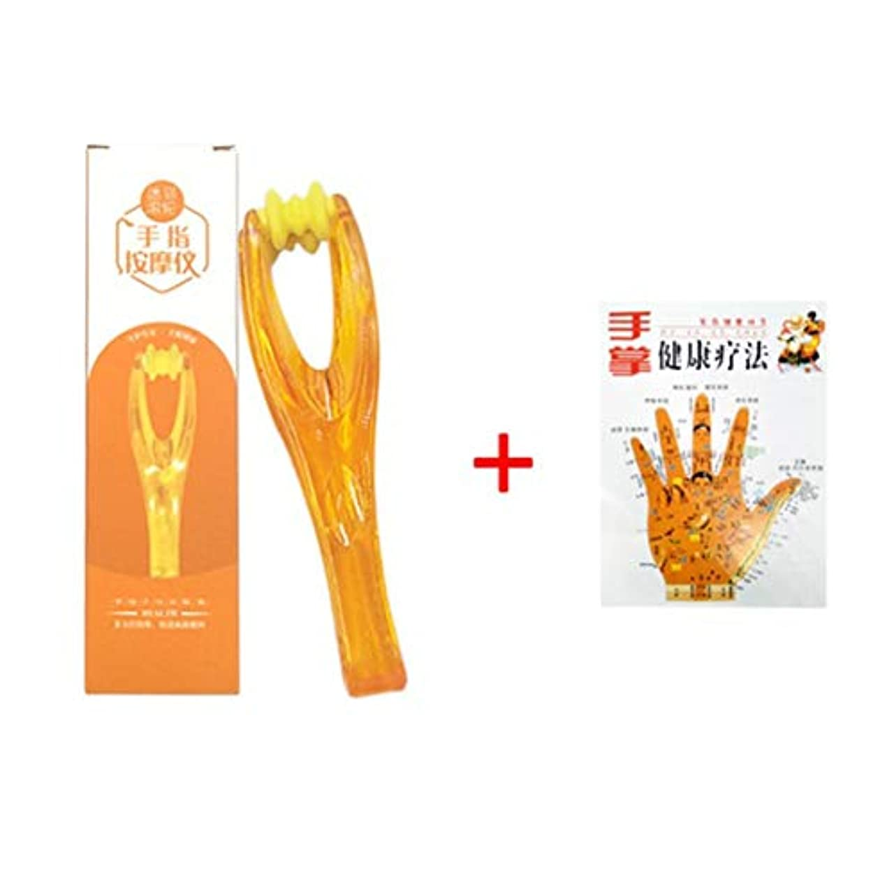 美容師見落とす戦いBirdlantern 1pc Hand Finger Joints Massager Handheld Blood Circulation Tool Dual Roller Stress Relief Beauty Plastic...