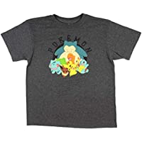 Seven Times Six Pikachu Squirtle Charmander Big Boys' Group Photo All Smiles T-Shirt