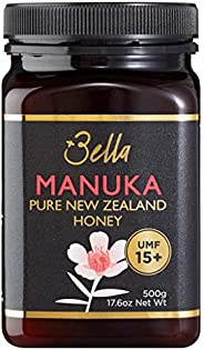 Bella New Zealand Manuka Honey Certified UMF 15+ (MGO 515) | 500g | Raw Premium 100% New Zealand Manuka Honey
