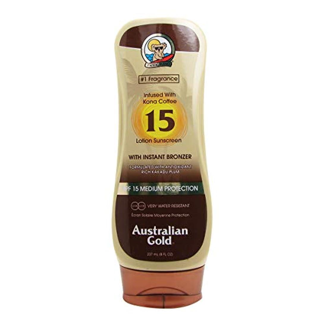 旅行ゴールデン輝度オーストラリアンゴールドローションSPF15インスタントブロンザー237ml