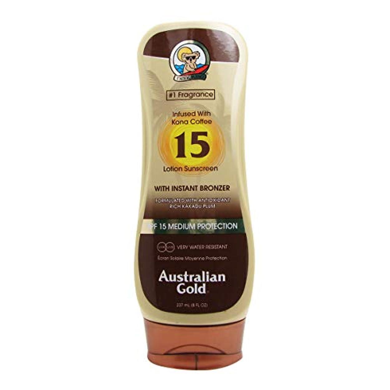 変化する大事にするかるオーストラリアンゴールドローションSPF15インスタントブロンザー237ml