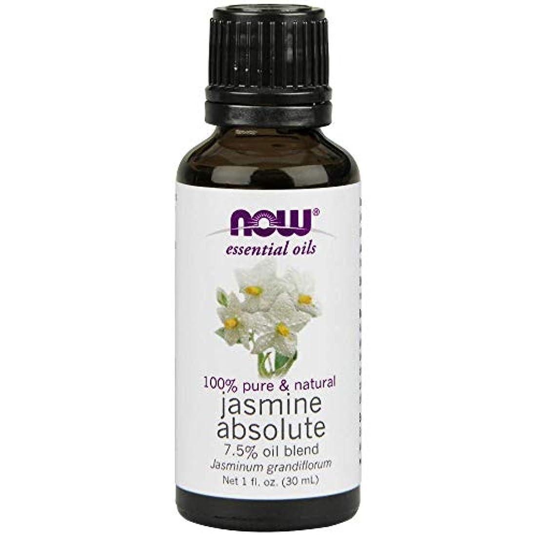 キャッチ名誉主要なNow - Jasmine Absolute Oil 7.5% Oil Blend 1 oz (30 ml) [並行輸入品]