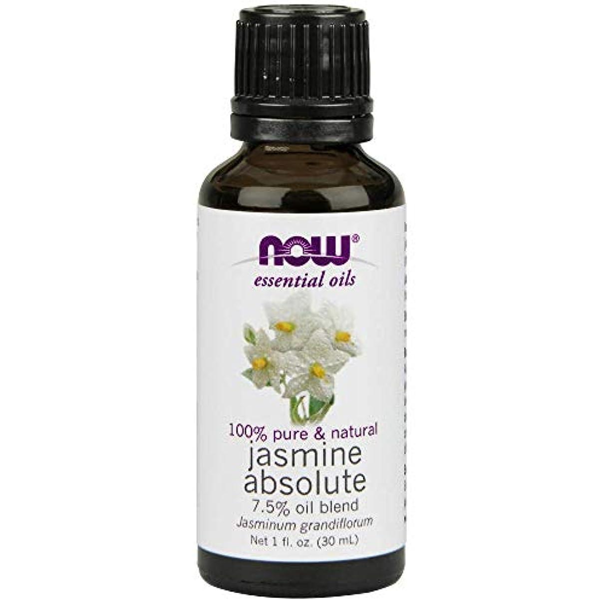 ジャンプする接続鎮痛剤Now - Jasmine Absolute Oil 7.5% Oil Blend 1 oz (30 ml) [並行輸入品]