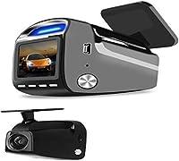 PGTC 車ダッシュカム 1.54インチ IPS FHD 1080p 150° 広角ダッシュボードSony323 2.0M カメラレコーダー Gセンサー付き ループ録画 駐車制御 モーション検出 GPS追跡