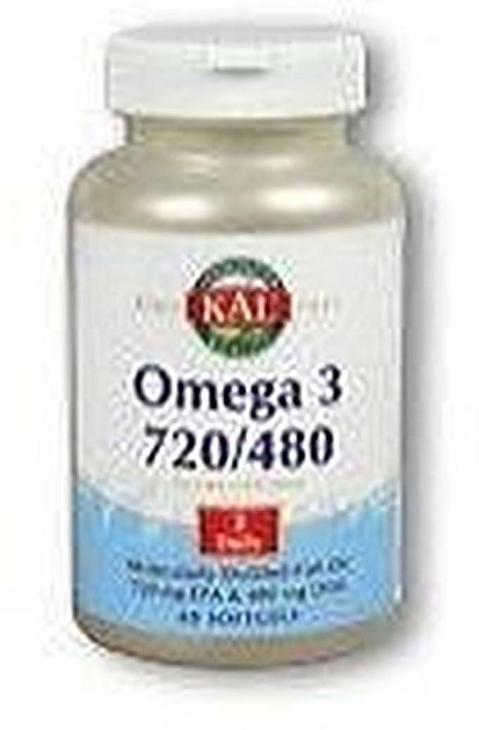 悪名高い混合した勧告オメガ3 720/480 60粒 ソフトジェル KAL(カル)[海外直送品]