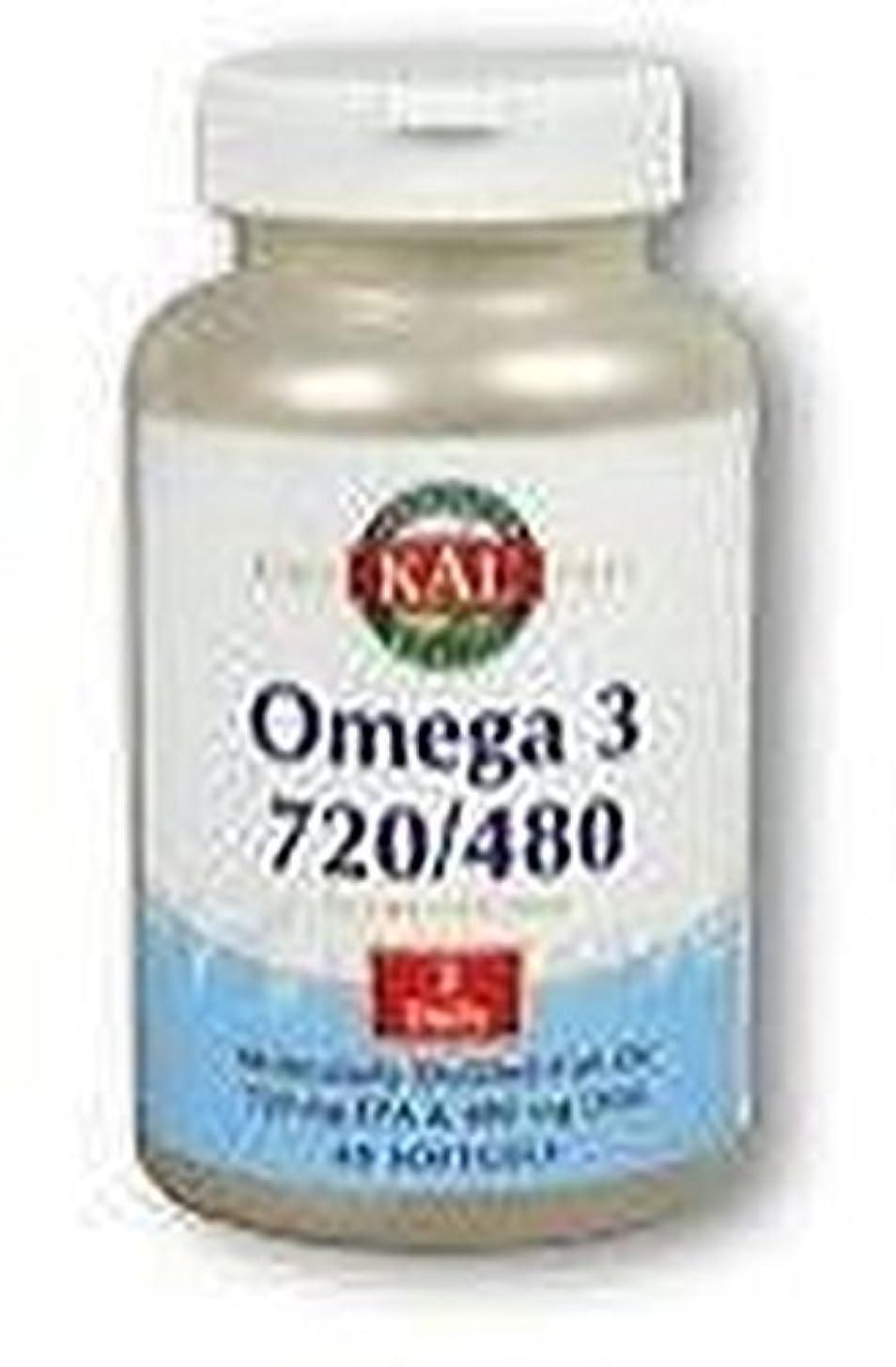 さびたホステス好戦的なオメガ3 720/480 60粒 ソフトジェル KAL(カル)[海外直送品]