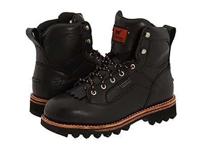 (アイリッシュ セッター) Irish Setter メンズ Trailblazer 868 ミドルブーツ Black Leather US12(30cm) - D - Medium [並行輸入品]
