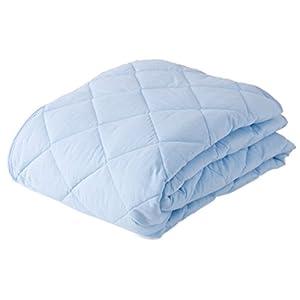 mofua natural ( モフア ナチュラル ) 敷きパッド 丸洗いできる 綿100% ( 防ダニ 抗菌防臭 ) シングル ブルー 51290102