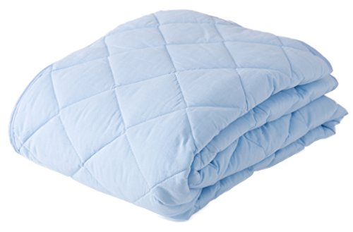 mofua natural 敷きパッド 丸洗いできる 綿100% ( 防ダニ 抗菌防臭 ) シングル ブルー 51290102